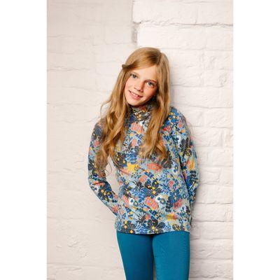 Водолазка для девочки, рост 80 см, принт голубой 151-318-37