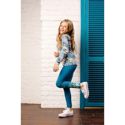 Брюки для девочки, рост 86 см, цвет синий 151-325-08