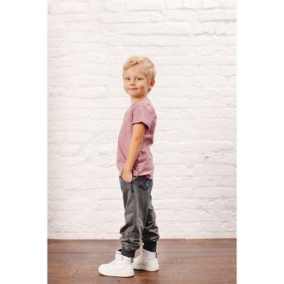 Футболка для мальчика, рост 80 см, цвет сиреневый меланж 152-310-14