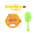 Набор музыкальных инструментов: бубен, маракас, труба МИКС