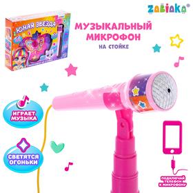 Микрофон на стойке «Юная звезда»
