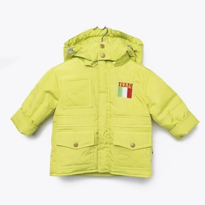 """Куртка для мальчика """"МИЛАНО"""" , рост 80, цвет салатовый 9 вида 140_М"""