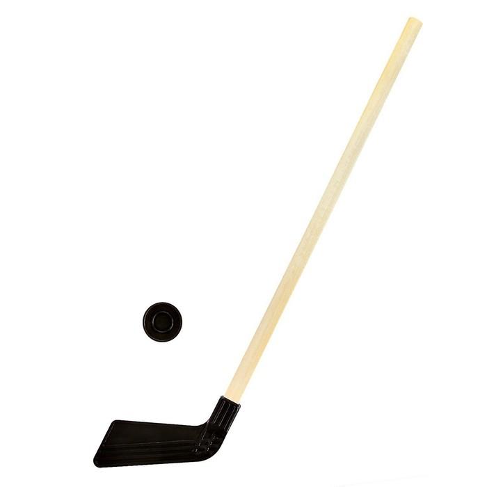 Шайба и клюшка хоккейная 80 см, МИКС
