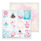 Бумага для скрапбукинга «Сладкие мечты», 30.5 × 30.5 см, 180 г/м