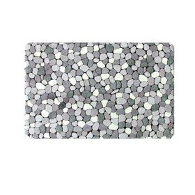 Коврик для ванной 50х85 см OrthoSpa River Rocks, цвет серый