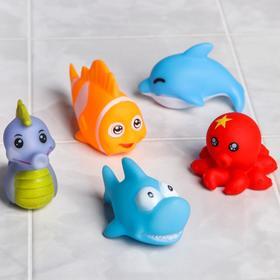 Игрушки для купания «Морской мир», 5 предметов, виды МИКС