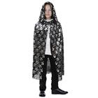 """Carnival coat for Halloween """"Skull medium"""" (Silver on black) Length 70cm"""