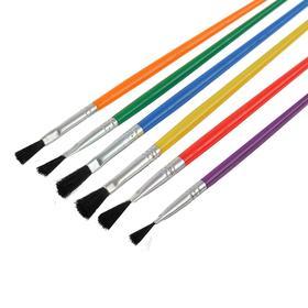 Кисть синтетика, №2, с цветной ручкой Ош