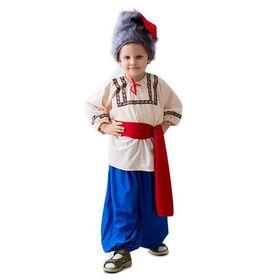 """Карнавальный костюм """"Казак"""", шапка, рубаха, пояс, шаровары, 5-7 лет, рост 122-134 см"""