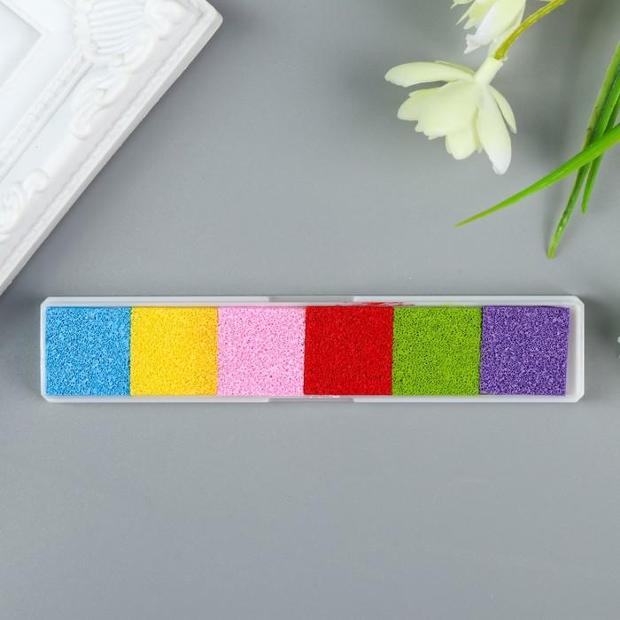 "Штемпельная подушка ""Цветная"" (набор 6 цветов) 12,4х2,4 см"