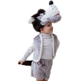 Карнавальный костюм «Волк», шапка, жилет, шорты с хвостом, 3-5 лет, рост 104-116 см