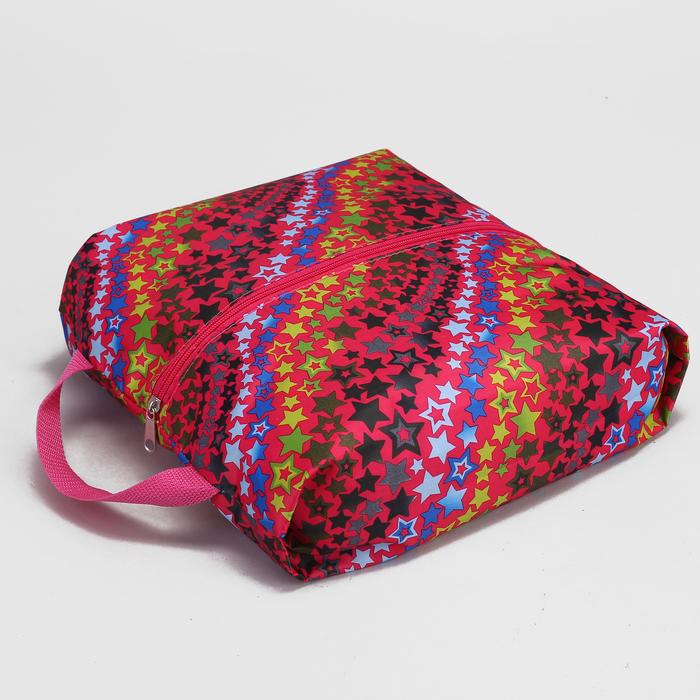 Сумка для обуви на молнии, 1 отдел, разноцветный