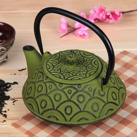 Kettle with strainer 800 ml Jana, color green