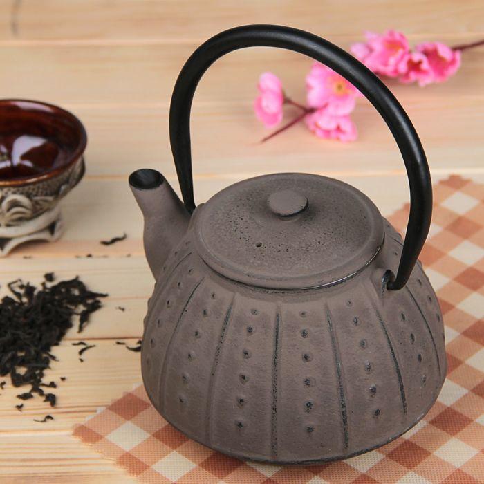 """Чайник с ситом 800 мл """"Рахель"""", цвет черный"""