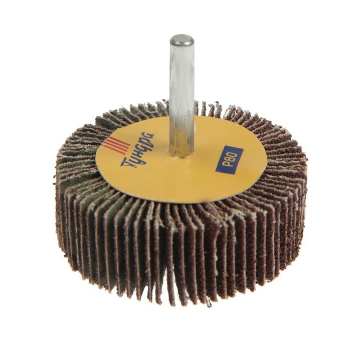 Круг лепестковый радиальный TUNDRA basic, 60 х 20 х 6 мм, P80