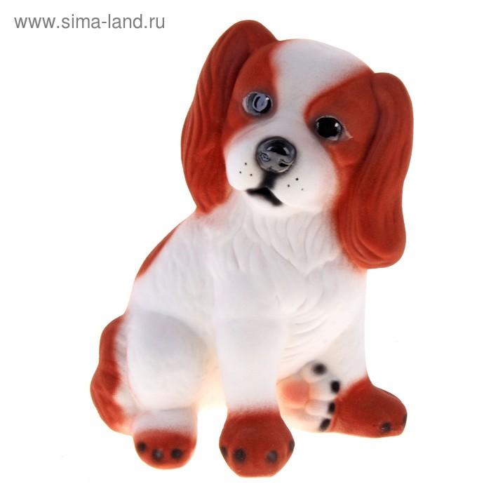 "Копилка ""Собака Малыш"" флок, бело-рыжая"