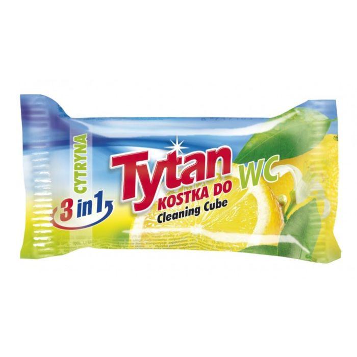 Двухфазный туалетный ароматизатор Tytan, лимон, запасной блок, 40г