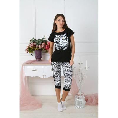 Комплект женский (футболка, бриджи) КФБ210 цвет МИКС, р-р 54