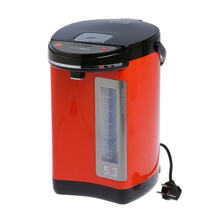 Термопот WILLMARK WAP-502KL, 900 Вт, 5 л, оранжевый