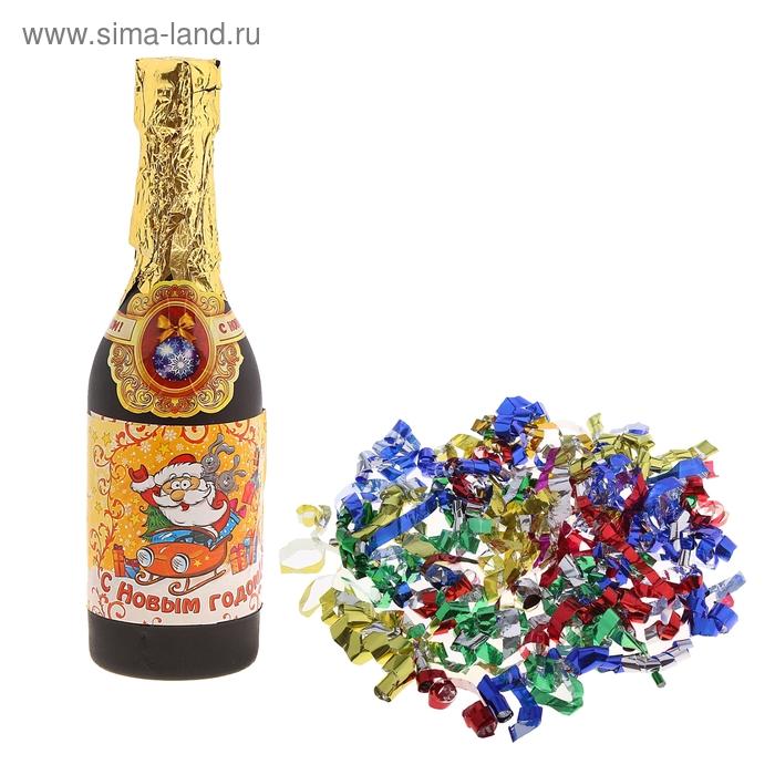 """Хлопушка пружинная """"Новогоднее!"""", 30 см, серпантин фольга"""