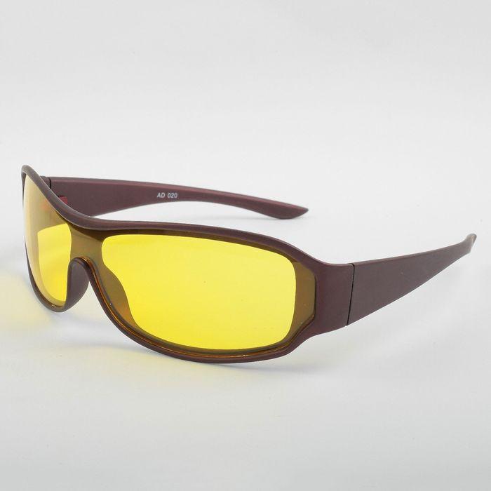 Очки для активного отдыха SPG «Непогода | Ночь» коричневый premium, в чехле с салфеткой