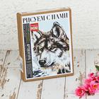 "Картина по номерам на картоне ""Серый волк"", 16,5 х 13 см"
