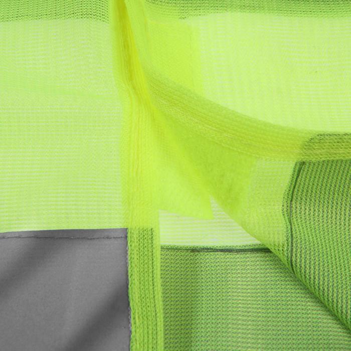 Жилет светоотражающий, цвет желтый, размер XL: 62х68 см., на липучках-велкро