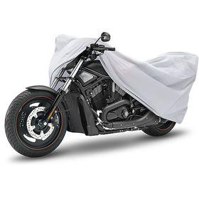 Чехол-тент для мотоциклов и скутеров 203х89х119 см (М), серебряный