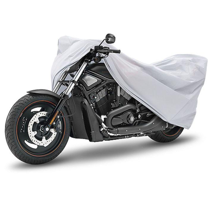 Чехол-тент для мотоциклов и скутеров 229х99х124 см (L), серебряный