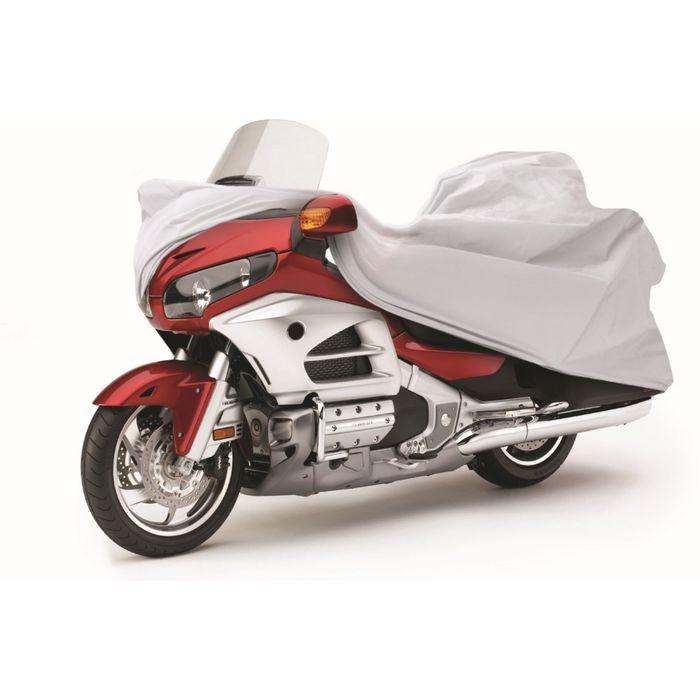 Чехол-тент для мотоциклов Touring 260х100х130 см (XXL), серебряный