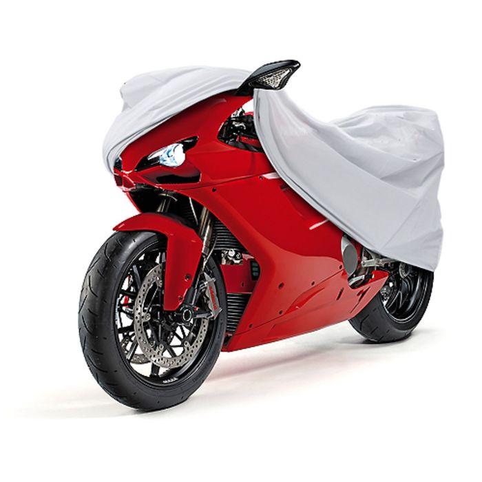 Чехол-тент для мотоциклов Sportbike 216х80х106 см, серебряный