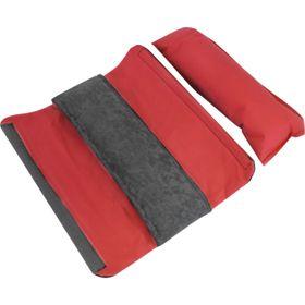 Подушка автомобильная на ремень безопасности 11х30 см, серый