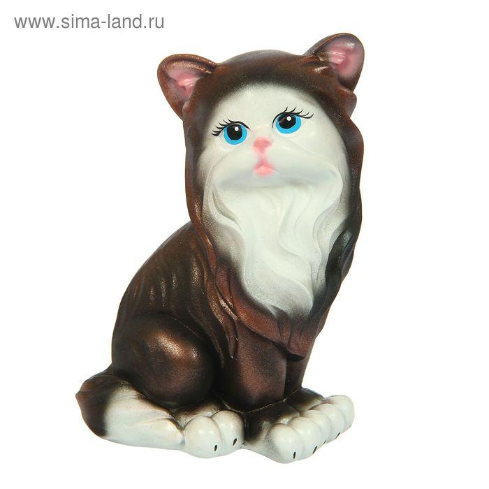 """Копилка """"Кошка Матильда"""" тёмная бронза"""