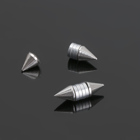 Тоннели обманки 'Шипы', цвет серебро, фас 12 шт Ош