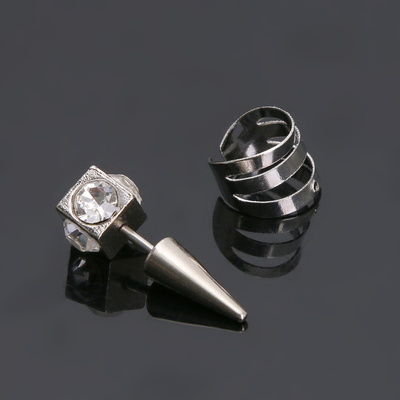 """Piercings in the ear, """"the Ship of the ring"""", white in silver FAS 12 pairs"""