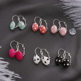"""Earrings assorted """"Circle"""" Milena, MIX color"""
