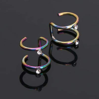 Piercing (Plag) Curve with strosinci, color petrol, FAS 20 PCs