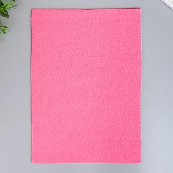 "Фетр ""Ярко-розовый"" 1 мм (набор 10 листов) формат А4"
