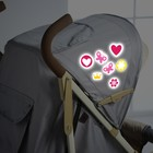 "Reflective stickers on the stroller, ""Our daughter"" (set)"