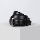 Ремень мужской, винт, пряжка металл, ширина - 3 см, цвет чёрный
