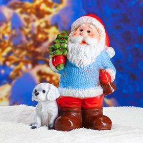 "Статуэтка ""Дед мороз с елкой"" с блестками 37см."