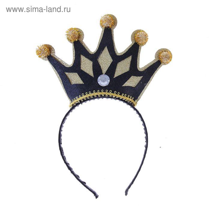 """Карнавальный ободок"""" Корона"""", цвета МИКС"""