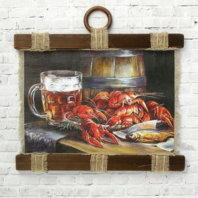"""Souvenir scroll """"Crabs and beer"""""""