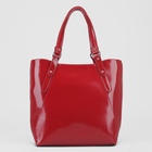 Сумка женская на молнии, отдел с перегородкой, наружный карман, цвет красный гладкий шик