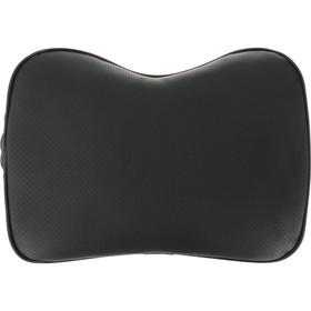 Подушка автомобильная, ортопедическая, поясничный подпор, увеличенная 32х27x20 см, черная