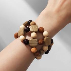 "Bracelet handmade, wooden ""Box 2nd row"", color brown"