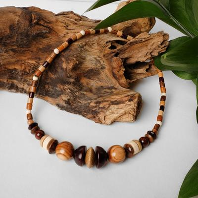 """Beads handmade, wooden """"Fennec"""", color light brown"""