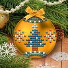 Новогодний ёлочный шар, Набор для создания с EVA стикерами, шар золотой