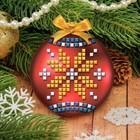 Новогодний ёлочный шар, Набор для создания с EVA стикерами, шар красный
