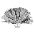 Помпон 50 грамм, цвет серебро